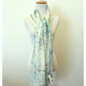 Kate Spade Off the Map scarf NWT
